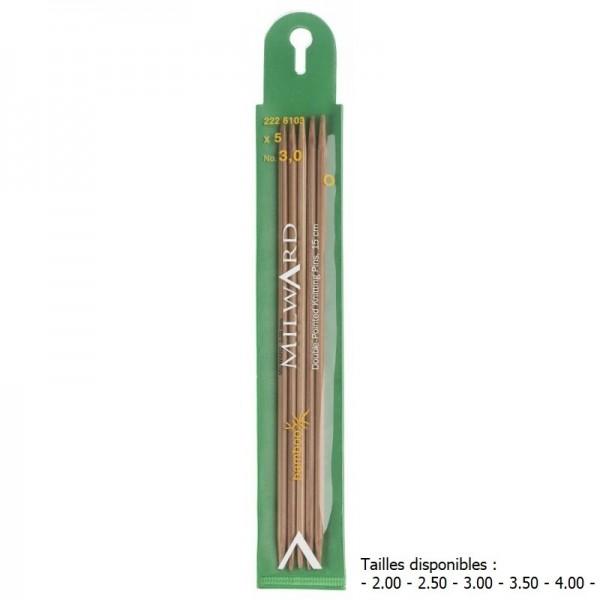 Aiguilles à tricoter 2 pointes bambou