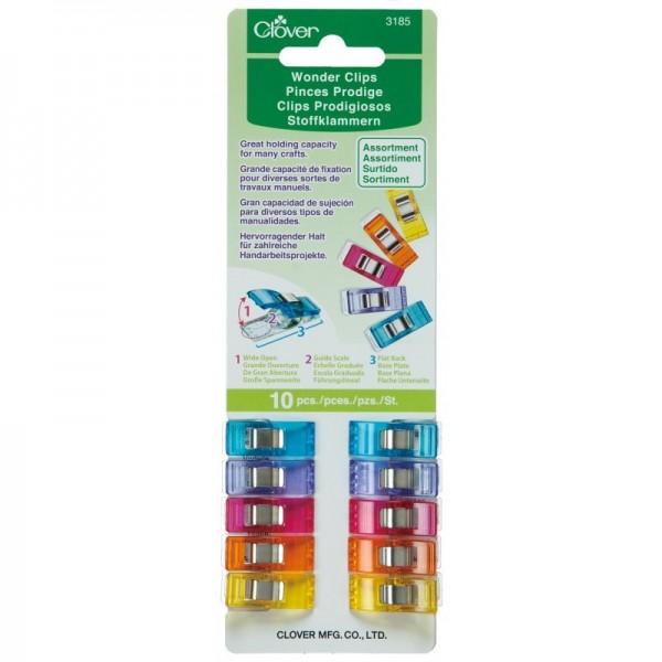 Pinces Prodige couleurs assorties Clover