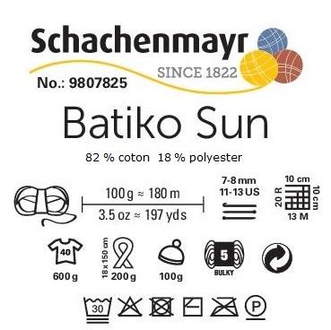 Fil Batiko Sun Schachenmayr 82 % coton 18 % polyester