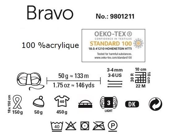Laine Bravo de Schachenmayr 100 % acrylique