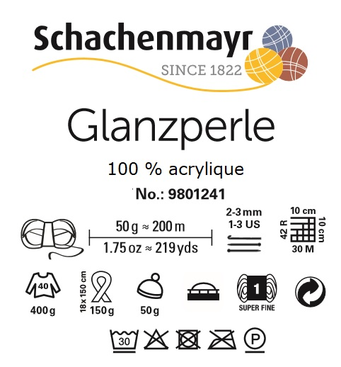 Laine Glanzperle 100 % acrylique Schachenmayr
