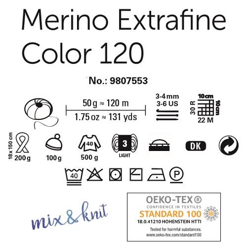 Laine Merino Extrafine Color 120 Schachenmayr